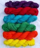 Instock-300g Bright Rainbow mini skeins Aran