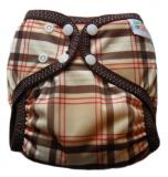 Little Comfort Funky Nappy Wrap - Brown Check