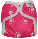 Little Comfort Funky Nappy Wraps - Pink Paws