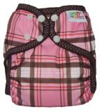 Little Comfort Funky Nappy Wraps - Pink Check