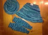 Wool skirty, hat & legwarmers set