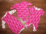 Sands Auction Girls Gown, Vest and Romper set 0-3mths