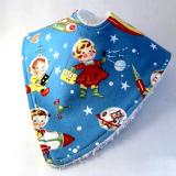 Retro Rocket Rascals Baby Dribble Bib